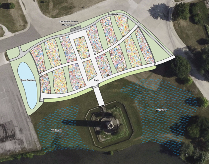 The plan for new gardens, designed by Piet Oudolf, will include 25,000 flowers along with wetland and rain gardens.